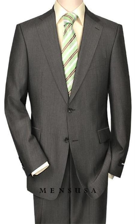 SKU# S80028 High-quality Construction Two-Button-2 Button Pinstripe Charocoal Gray Shadow Mini Stripe ~ Pinstripe $199