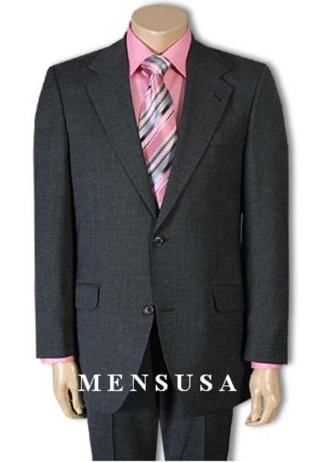 SKU# PJ8 High-quality construction Two-Button-2 Button Charcoal Gray fine Wool Center Vent $225