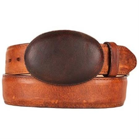 SKU#SM300 Western Style Belt Honey Original Leather