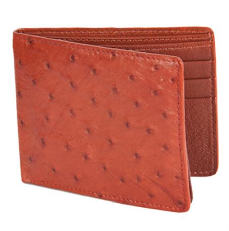 Mens Genuine Exotic Animal Skin Wallet ~ billetera ~ CARTERAS Honey Genuine Ostrich Card Holder Wallet