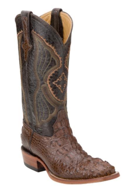 SKU#TW0271 Hornback Alligator - Chocolate-D Toe