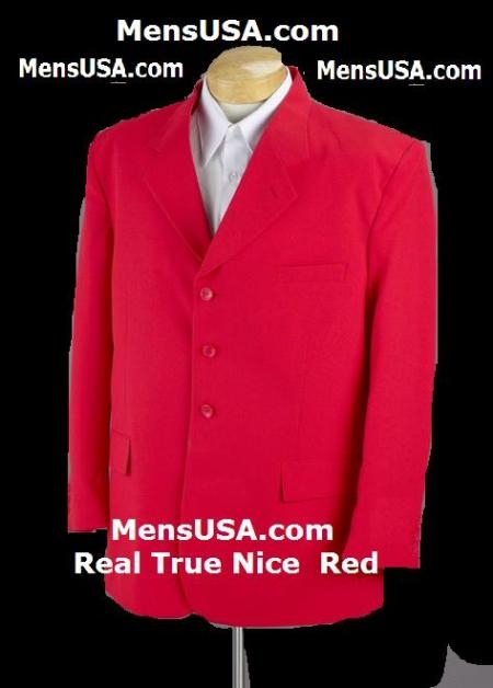 SKU# YTV410 Hot Nice Red Soft Cool Mens Suit + Free Shirt & Tie