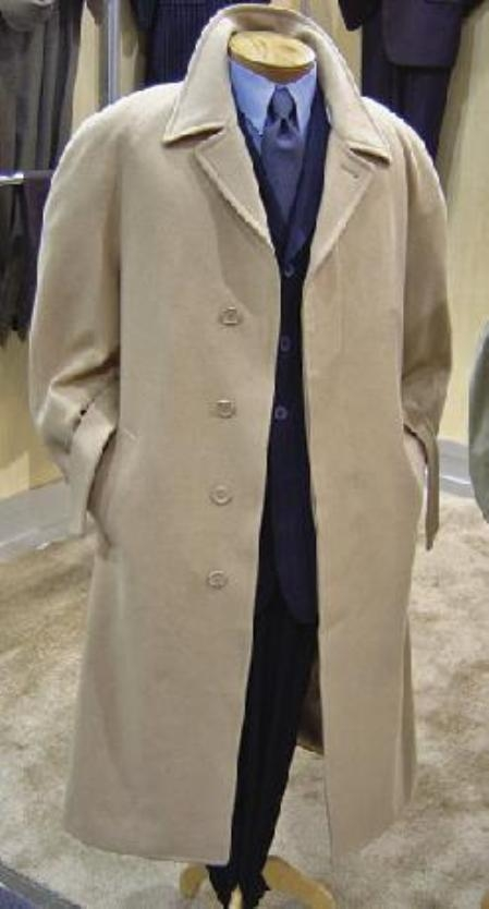 SKU#MU06 52 Inch Long Wool Blended Overcoat with Hidden Buttons&Belt Full length 4 button in 4 Color $149