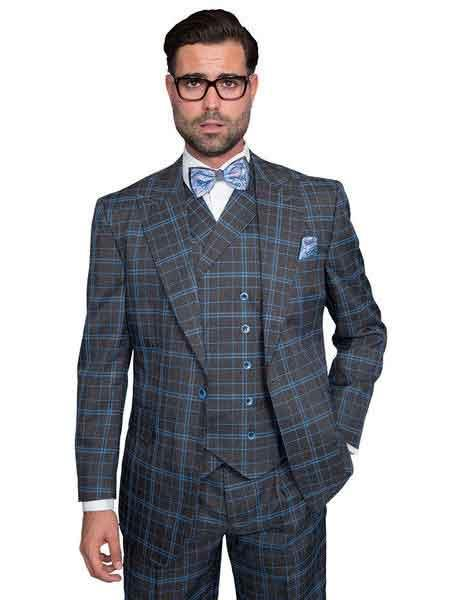 Statement Mens Plaid Window