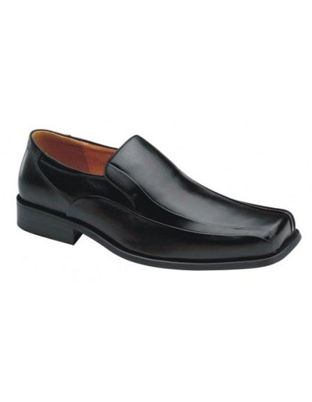 SKU#AP302 Zota Brand Mens Italian Design Black Leather Shoe