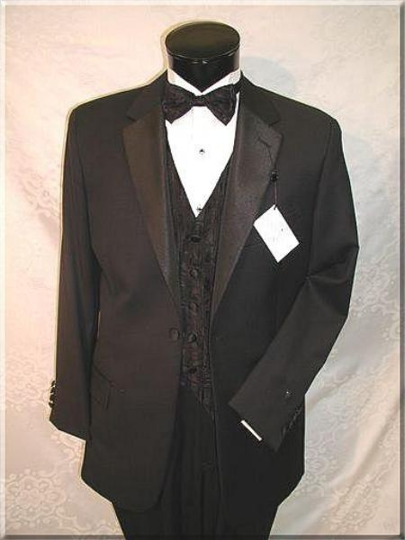 SKU# Z225 Italian Design Black Tuxedo Notch Laple Super 150s Wool Jacke
