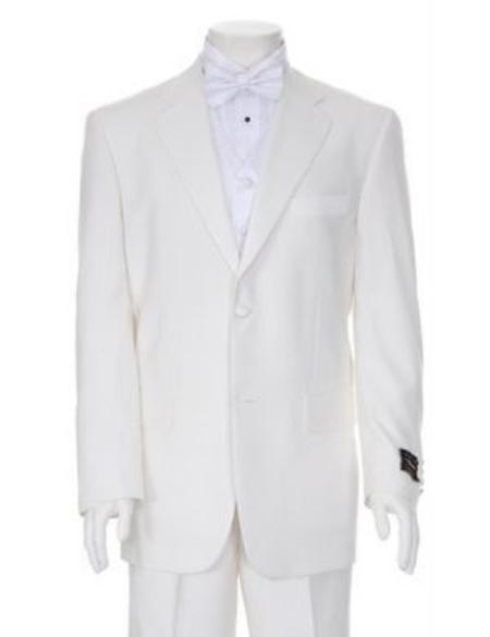 SKU#TTX778 Charming Ivory Mens Two Button Tuxedo