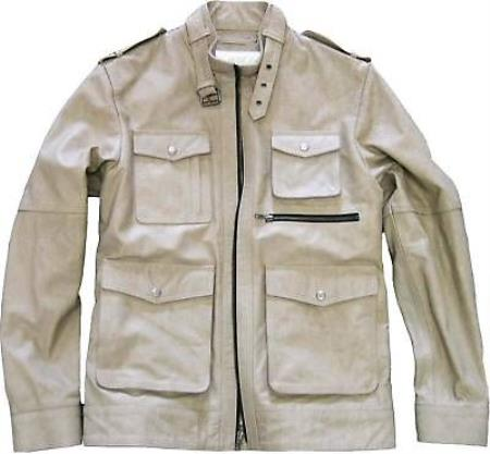 Mens Military Genuine Leather Jacket Slim Fit tanners avenue jacket