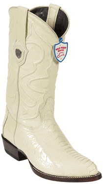 Wild West Cream ~ Ivory ~ Off White Ostrich Leg Cowboy boots