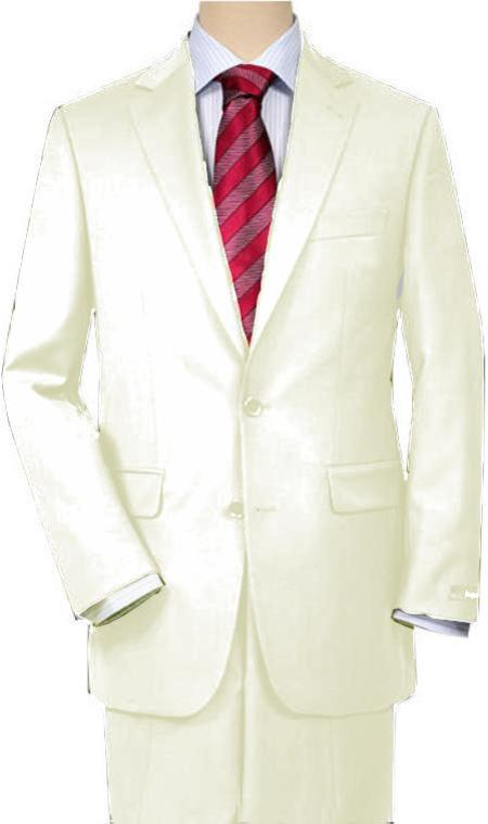 SKU#IVR72 Ivory Quality Total Comfort Suit Separate Any Size Jacket & Any Size Pants