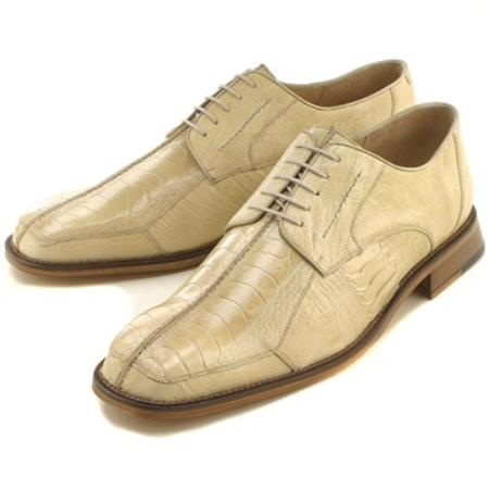MensUSA.com Ivory Ostrich Lizard Lace Up(Exchange only policy) at Sears.com