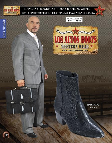 Buy ASA2 Los Altos J-Toe Stingray mantarraya skin Mens Dressy Western Cowboy Boot Diff. Colors/Sizes