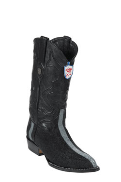 Wild West J-Toe Black Rowstone Finish Boots