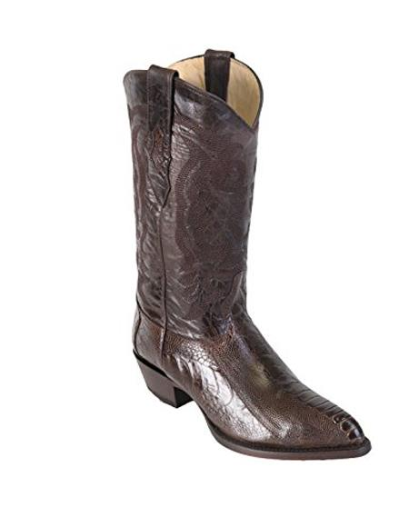 Mens Brown King Eel Skin J-Toe Los Altos Boots  Dress Cowboy Boot Cheap Priced For Sale Online ~ botines para hombre With Saddle Vamp- Botas De Anguila