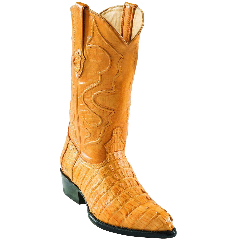 Wild West J-Toe Buttercup caiman ~ World Best Alligator ~ Gator Skin Tail Cowboy Boots