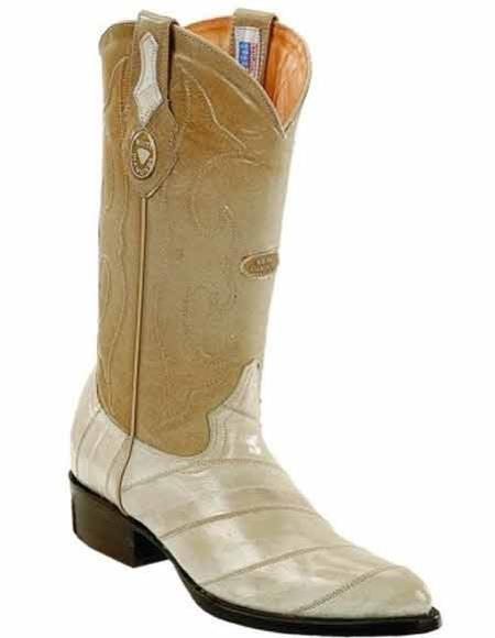 Buy SM2838 Men's Genuine Eel Skin J Toe Style Handcrafted Bone Boots Leather Lining
