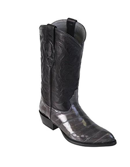 Buy GD68 Men's Grey King Eel Skin J-Toe Los Altos Boot Sandle Vamp