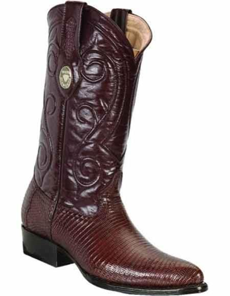 Men's Genuine Lizard Skin Handcrafted With Leather Insole Brown Dress Cowboy Boot Cheap Priced For Sale Online J Toe Style