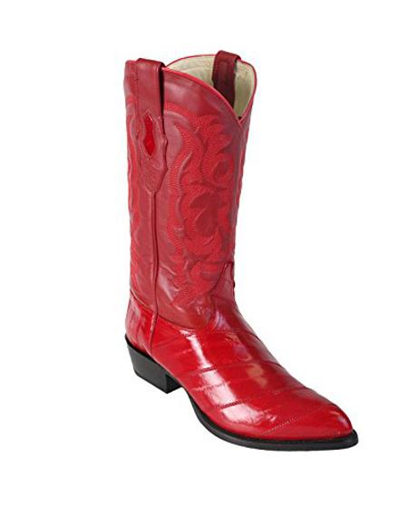 Buy GD69 Men's Red King Eel Skin J-Toe Los Altos Boot Sandle Vamp