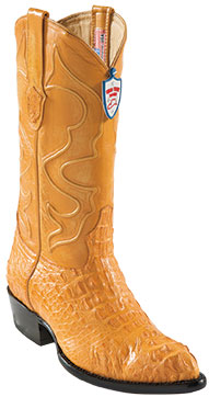 Wild West Buttercup J-Toe caiman ~ World Best Alligator ~ Gator Skinr Hornback Cowboy Boots
