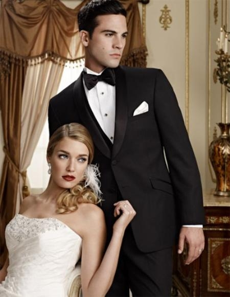 SKU#KJ5656 Fitted Slim Fitc Cut Ridge Tonal Cord Shawl Lapel Tuxedo $236
