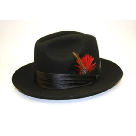 Black Stingy Fedora Hat