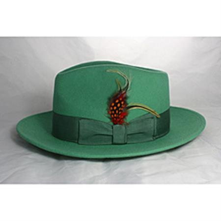 Mint Green Fedora Hat