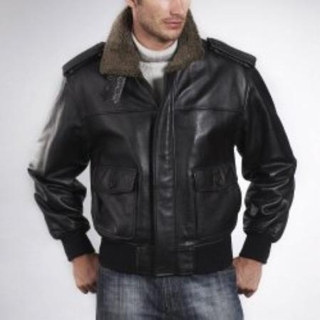 SKU#GN681 Landing Mens Cowhide Leather Flight Jacket $259