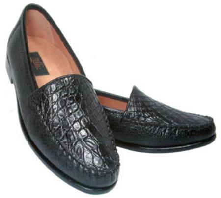 SKU# AJX928 Largo - Crocodile glove leather slip-on with Peccary base...  $415