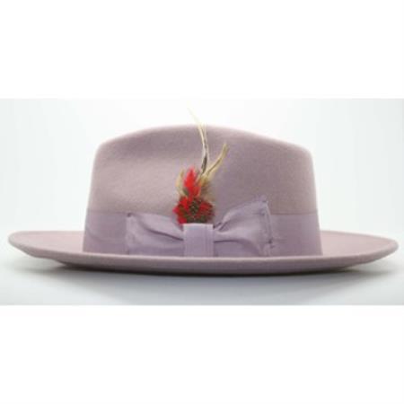 Mens Lavender Fedora Hat