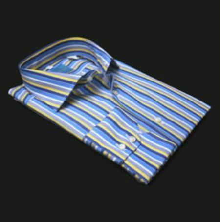 Valenti Blue Multi Stripe