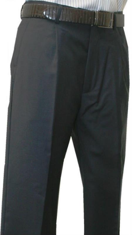 Leonardo Valenti Mens Single Pleated Dress Pants Roma Charcoal unhemmed unfinished bottom