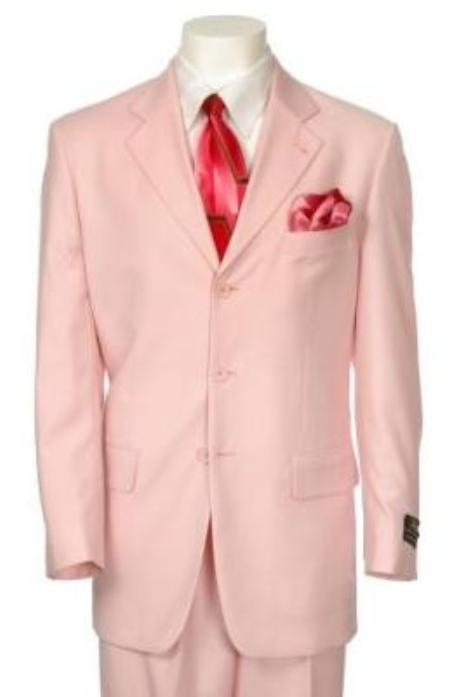 SKU#C744TA High Quality Light Baby Pink 3 Button suit