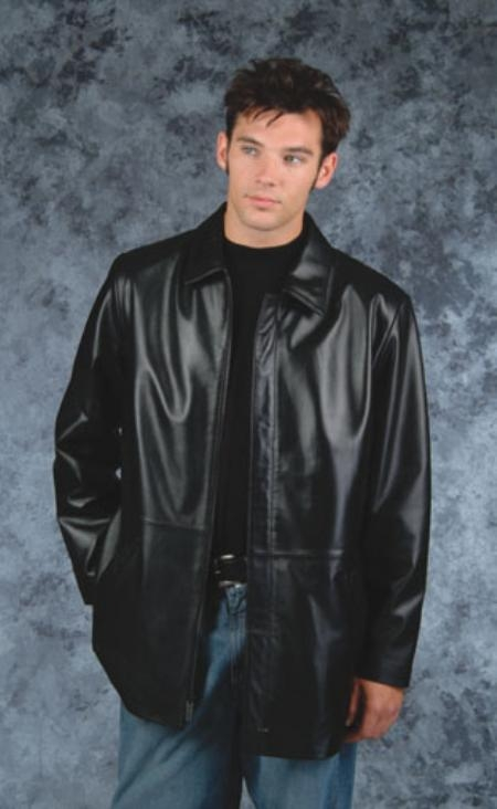 SKU#AM744 Lightweight fashion car coat Black $249