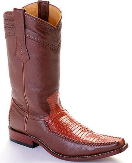 Lizard Cognac Brown Los