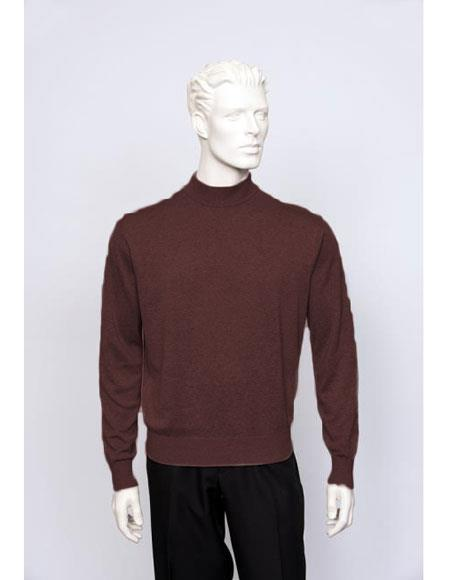 Mens Plum Sweater set Available in Big And Tall Sizes