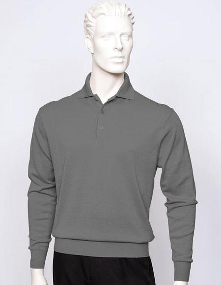 Tulliano Men's long sleeve silk/cotton fine gauge knitwear