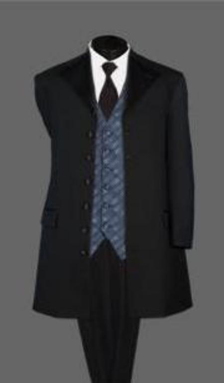 SKU# 43U Long Tuxedo Suit