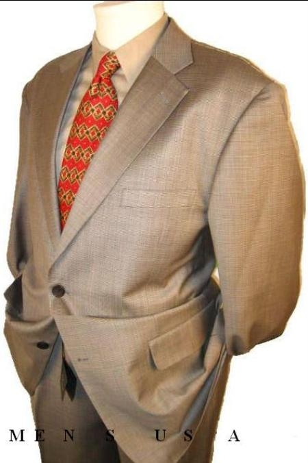 SKU#HW6382 Checker houndstooth Fabric Mini Pindots Teakweave Nailhead Salt & Pepper Birdseye Patterned Suit $169