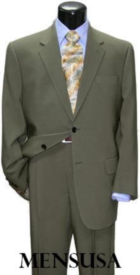 SKU# 2BLGS Loriano Light Green (Sage) Mens Dress Business Suit $159