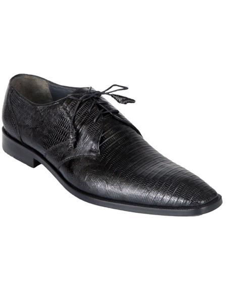 Genuine Black Teju Lizard Oxfords Dress Los Altos Boots  Shoe For Men