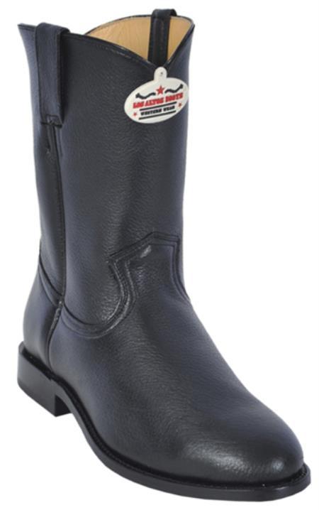 Buy KA5879 Los Altos Mens Genuine Black Elk Roper Leather Western Cowboy Riding Boot