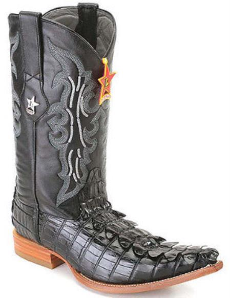 Buy KA5574 Nyle Tail Print Black Los Altos Men's Cowboy Boots Western Classics Riding