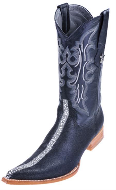Stingray Black Print Rowstone Los Altos Men's WESTERN Cowboy Boots 6x