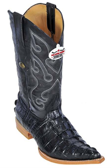 Buy KA8923 Croc Tail Print Black Los Altos Men's Cowboy Boots Western Classics Riding