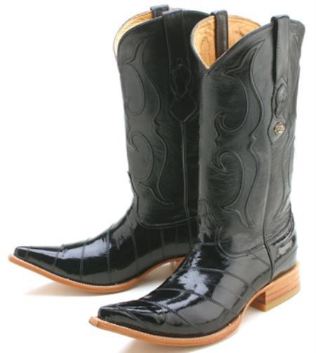 Men's Eel Classy Black Los Altos Cowboy Boots Western Cla