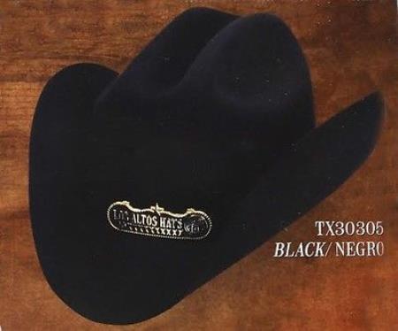 Tejana Cowboy Hat Duranguense Style 10X Felt Hats By Los Altos Black