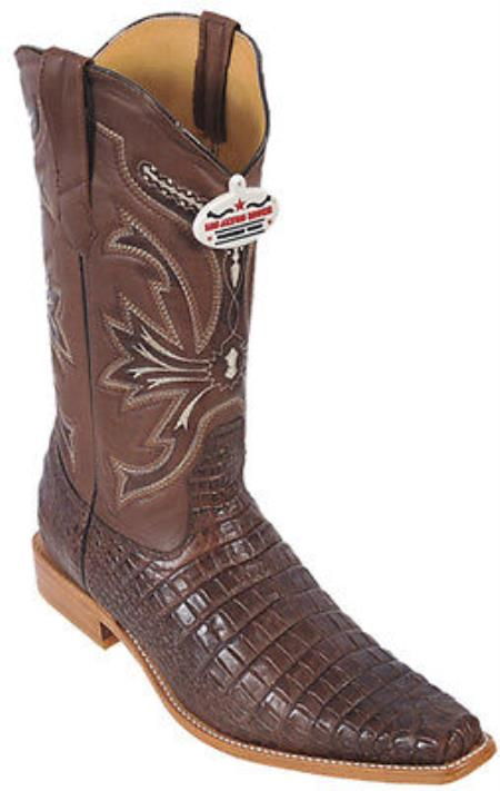 Buy KA8200 Croc Belly Print Riding Brown Los Altos Men's Western Boots Cowboy Classics