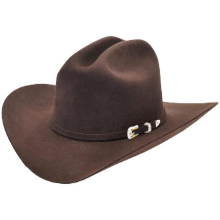 Brown Los Altos Hats Joan Style Felt Cowboy Hat