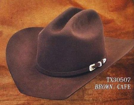 Tejana Cowboy Western Hat Texas Style 4X Felt Hats By Los Altos Brown